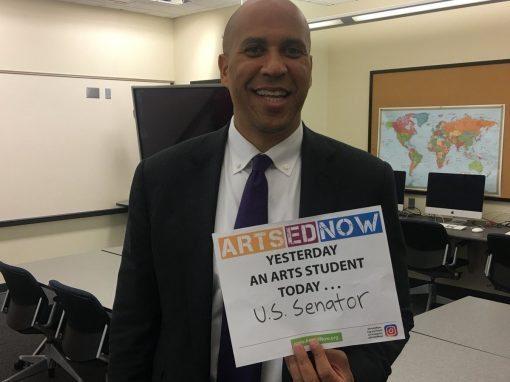 Senator Cory Booker supports Arts Ed Now!